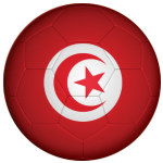 Tunisia Football Flag 58mm Button Badge